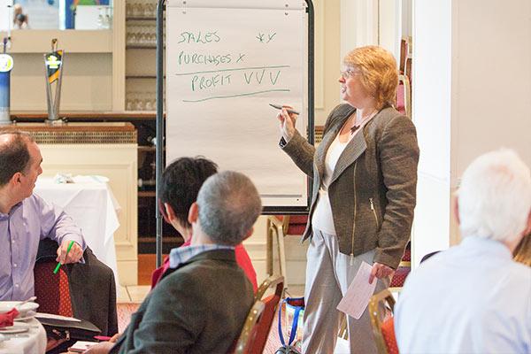 Sheila speaking at FSB Event